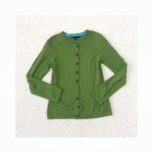 Boden Green Favorite Crewneck Cardigan Sweater 8
